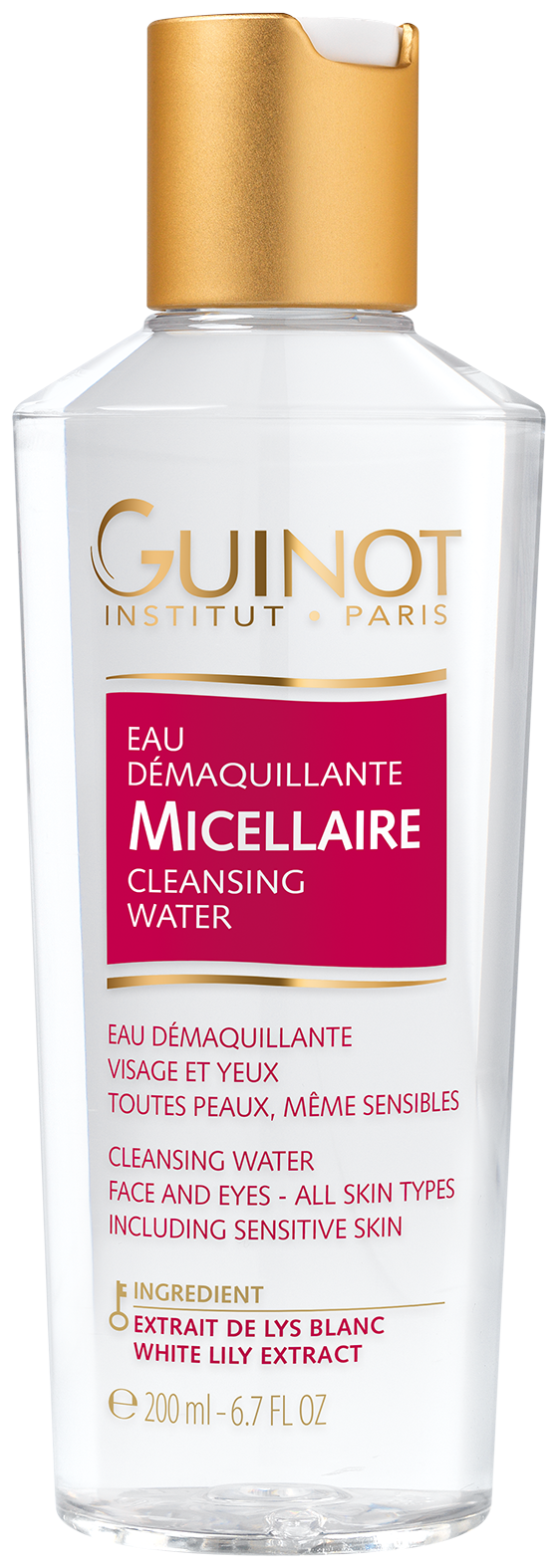 eau demaquillante micellaire make up remover from guinot. Black Bedroom Furniture Sets. Home Design Ideas